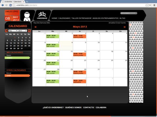 Calendarios Underbike