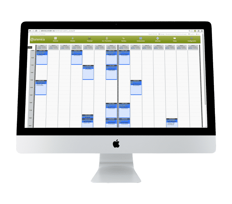 Aplicación en la nube para gestión de academias