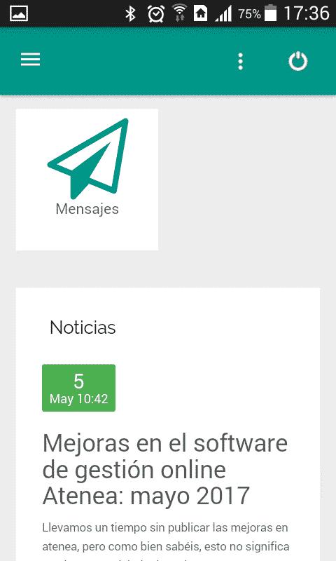 app para academias Atenea - Ender Aplicaciones